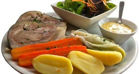 assiéte legume viande